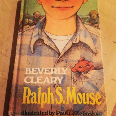 A Beverly Cleary book I kept from my childhood bookshelf.